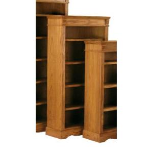 Kurio King Burnished Oak Bookcases 60 Inch Bookcase