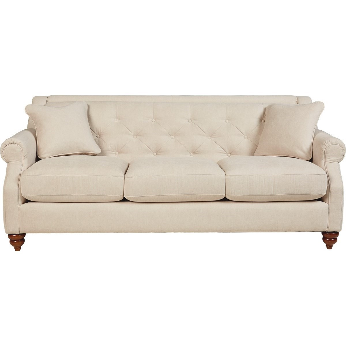 Traditional Sofa with Tufted Seatback
