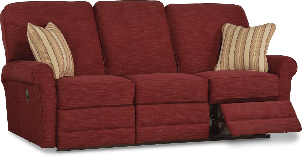 Transitional Reclining Sofa By La Z Boy Wolf And