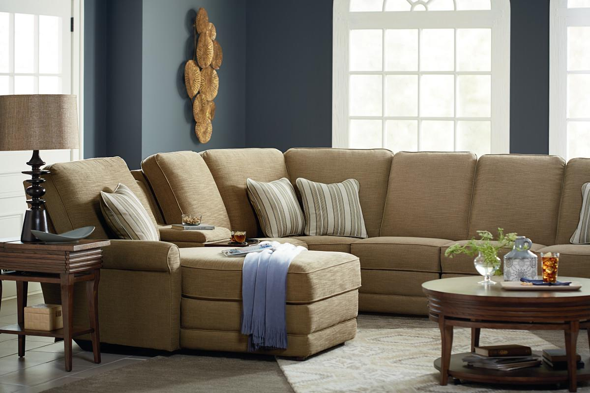 6 Pc Reclining Sectional Sofa w/ LAF Chaise : lazboy sectionals - Sectionals, Sofas & Couches