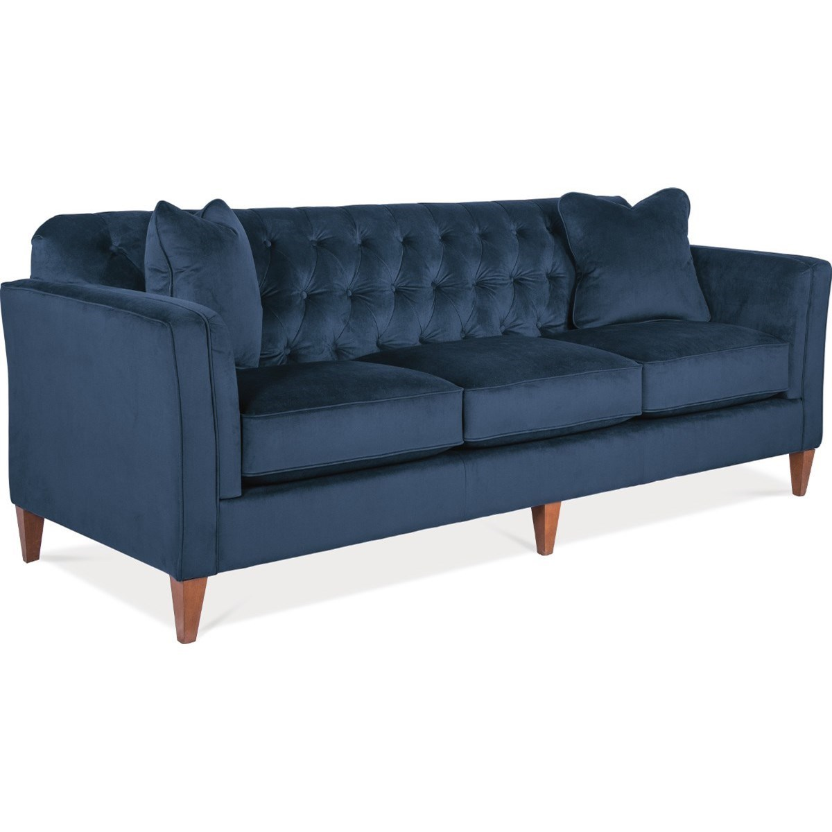Transitional Premier Sofa with Chesterfield Button Tufting