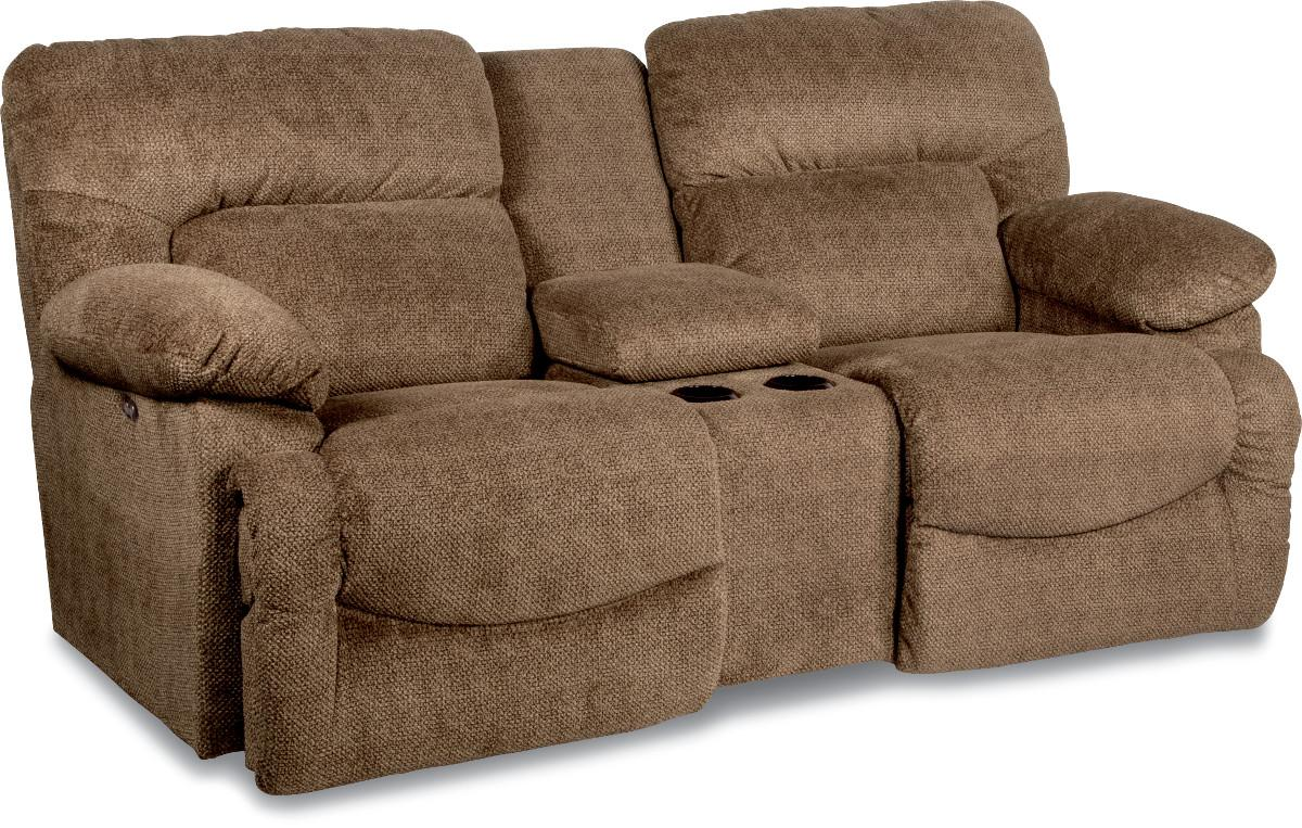Casual La Z Time Full Reclining Loveseat With Cupholder