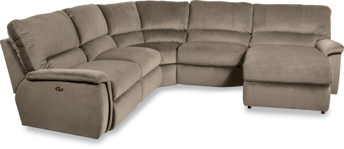 Five piece power reclining sectional sofa with las for 5 piece sectional sofa with chaise
