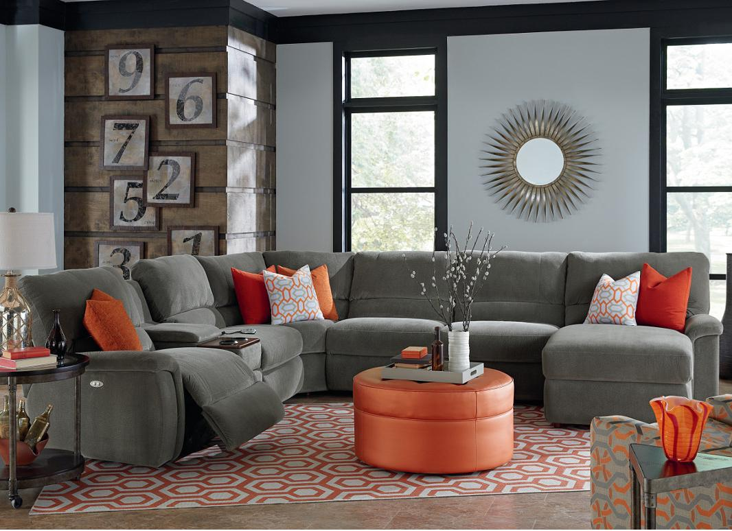 Perfect Seven Piece Reclining Sectional Sofa With Cupholders