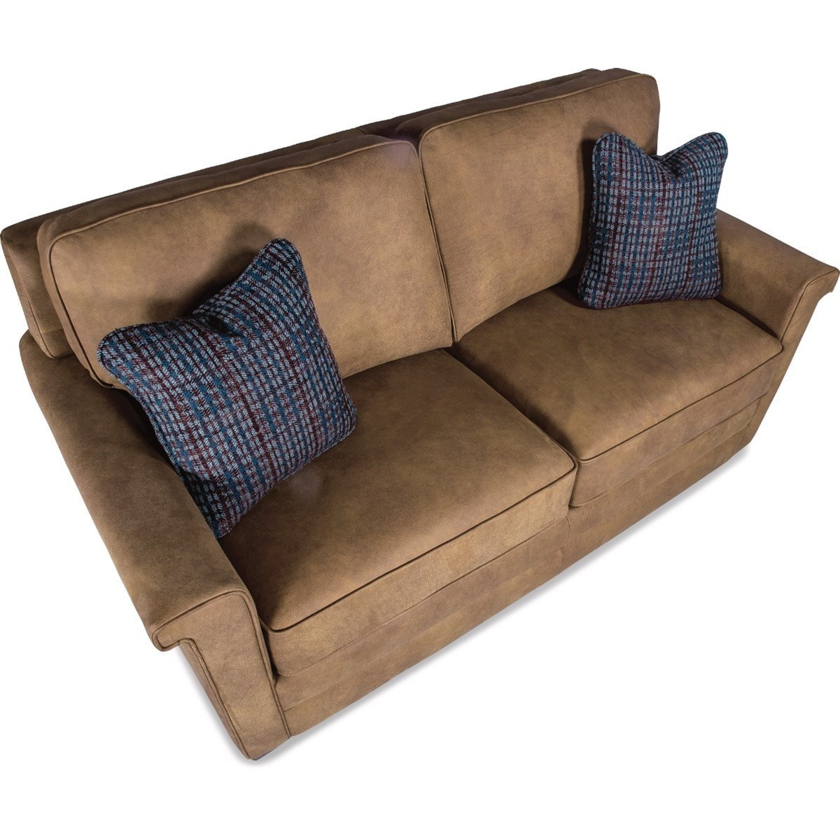 Contemporary apartment size sofa by la z boy wolf furniture - Apartment size sectional sofa ...