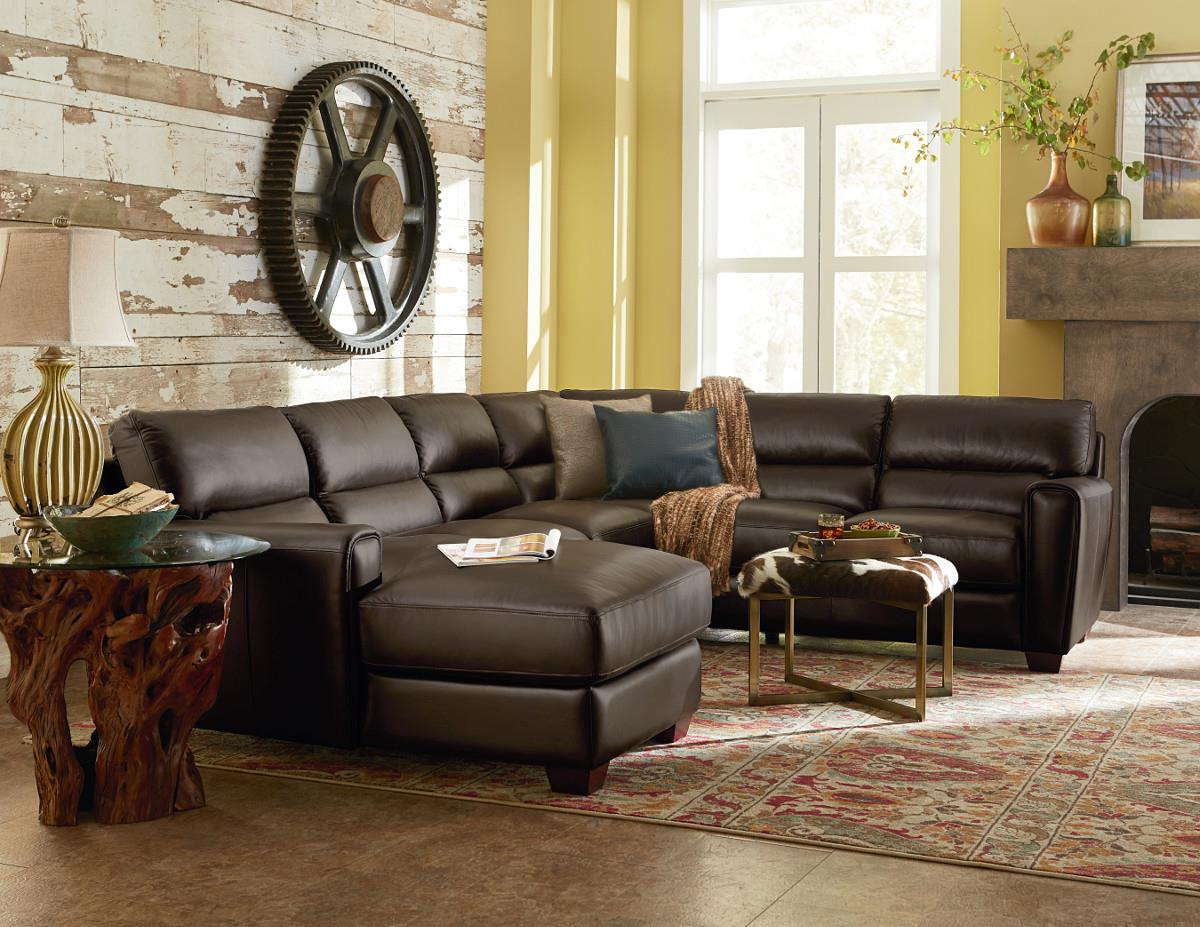 Three piece contemporary leather sectional sofa with laf for 3 piece leather sectional sofa with chaise