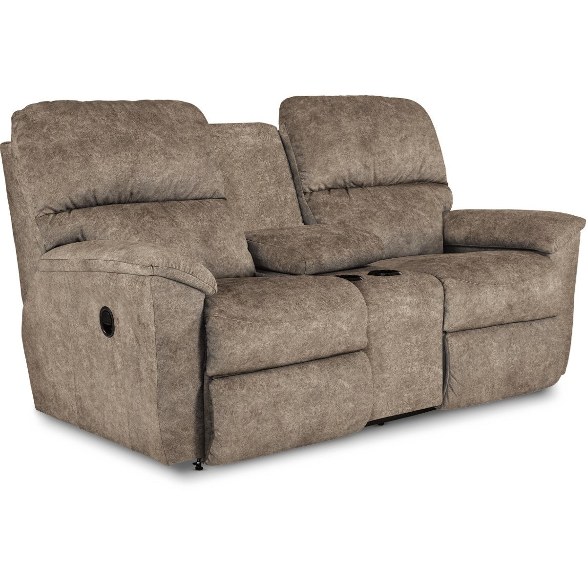 Casual Power Reclining Loveseat with Cupholder Storage Console and USB Charging Ports