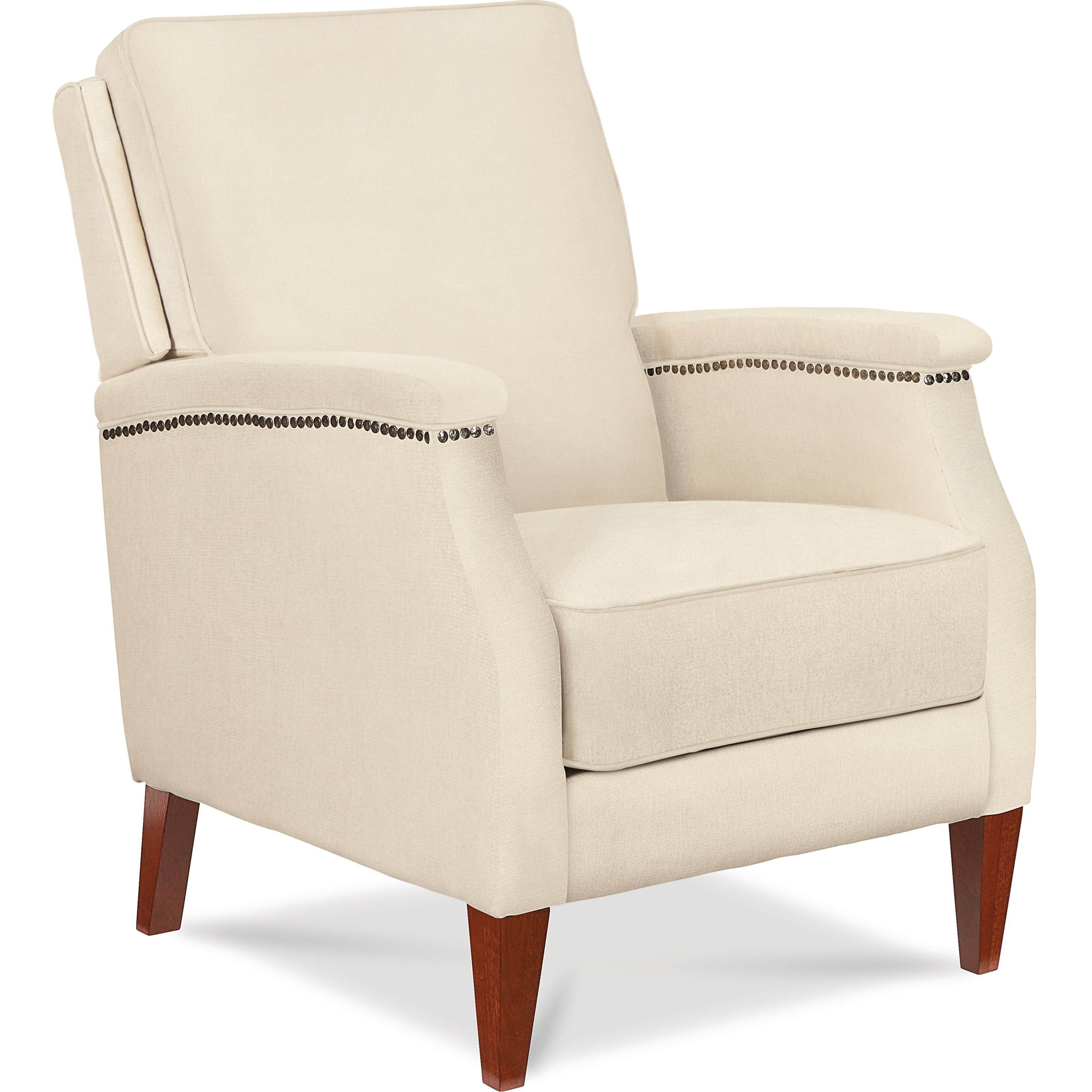 Press Back Recliner with Wing Back and Track Arms