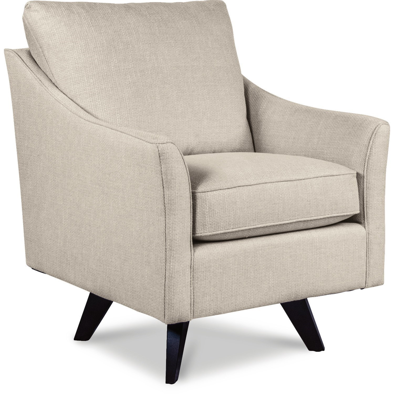 Reegan Swivel Chair with Splayed Wood Legs and Premier ComfortCore Cushion