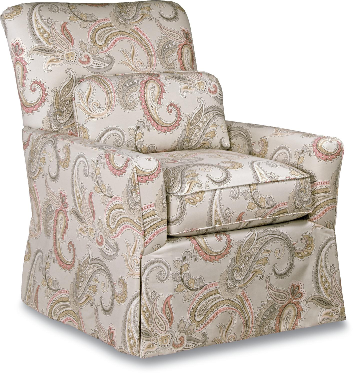 Lena Skirted Swivel Gliding Chair Premier ComfortCore® Cushion