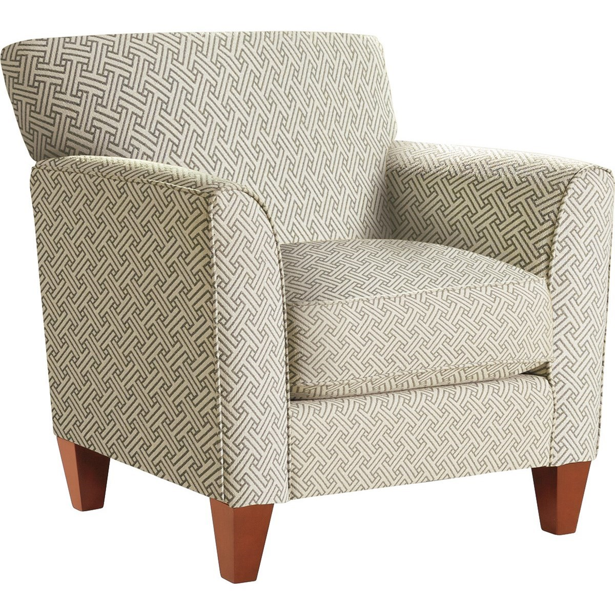 Allegra Stationary Chair with Flared Arms