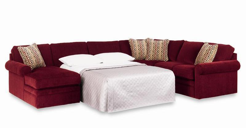 Sectional Sleeper Sofa with Full Mattress by La-Z-Boy | Wolf Furniture