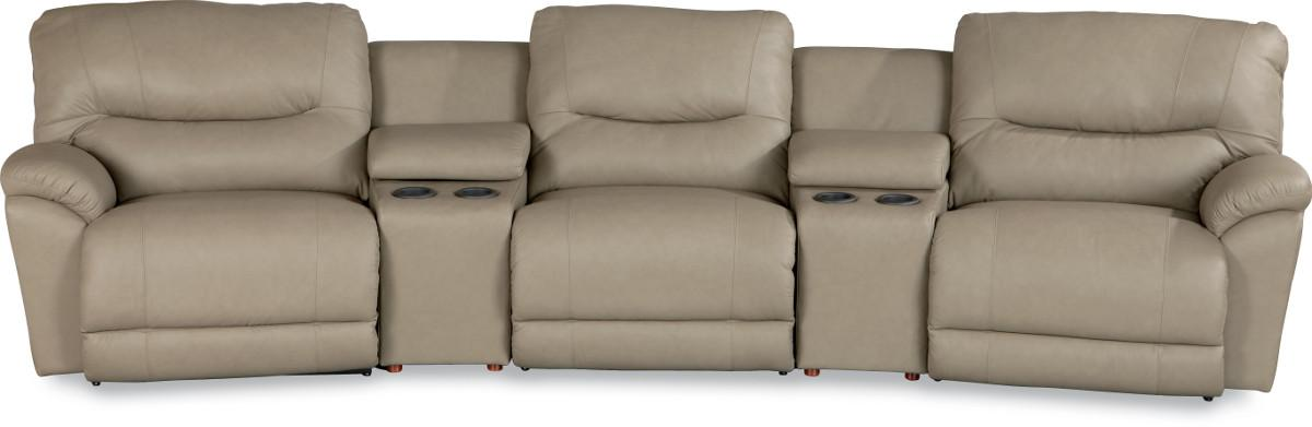 Casual Power Reclining Home Theater Sectional & Casual Power Reclining Home Theater Sectional by La-Z-Boy | Wolf ... islam-shia.org