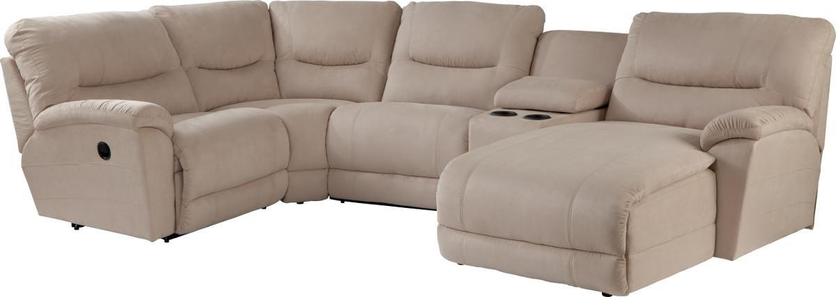 casual five piece reclining sectional sofa with las chaise