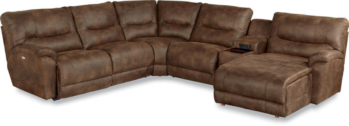 Charmant 6 Pc Power Reclining Sectional W/ LAS Chaise