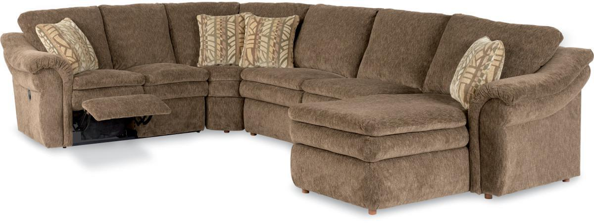 4-Piece Reclining Sectional Sofa with LAS  sc 1 st  Wolf Furniture : lazy boy leather sectionals - Sectionals, Sofas & Couches