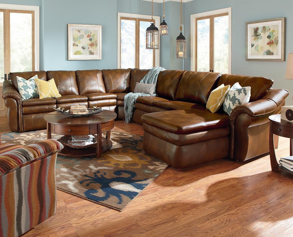 5 piece sectional with las chaise and 2 recliners by la z for 5 piece sectional sofa with chaise