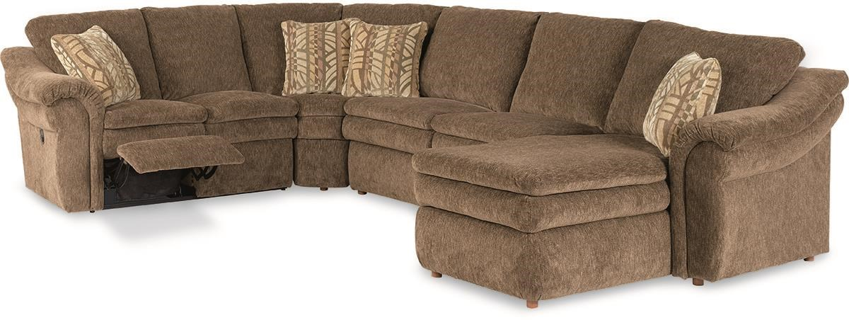 4-Piece Reclining Sectional Sofa with LAS