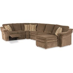 4piece reclining sectional sofa with las