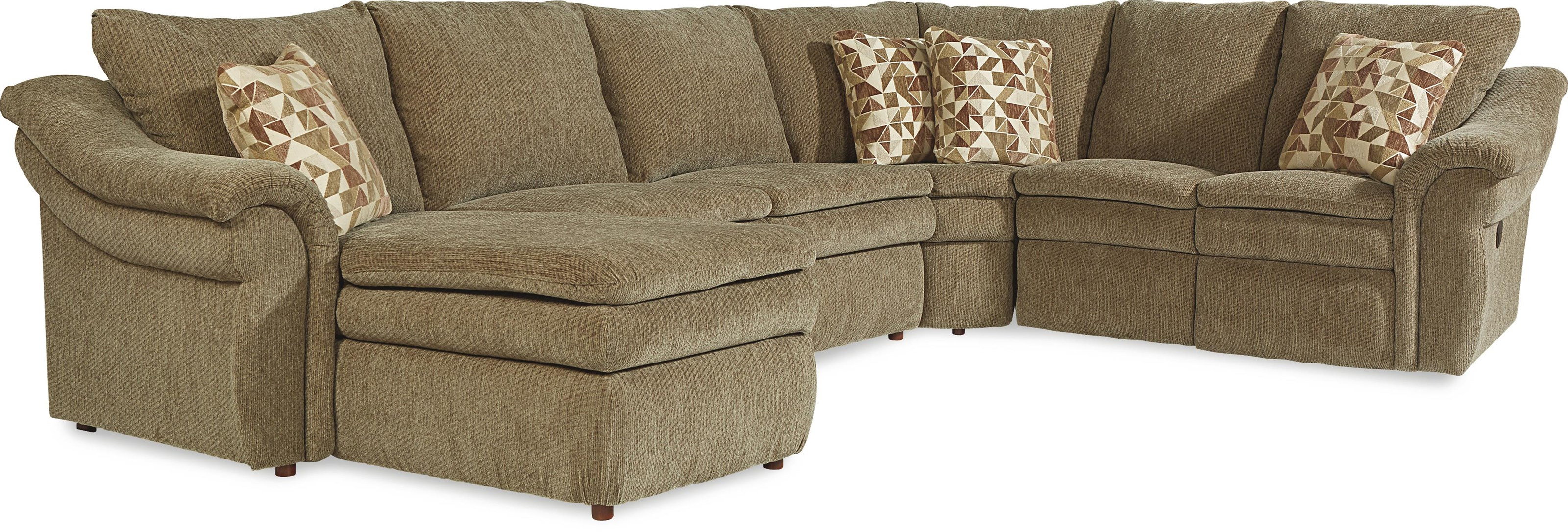 4 pc Sectional Right Arm Sitting Chaise