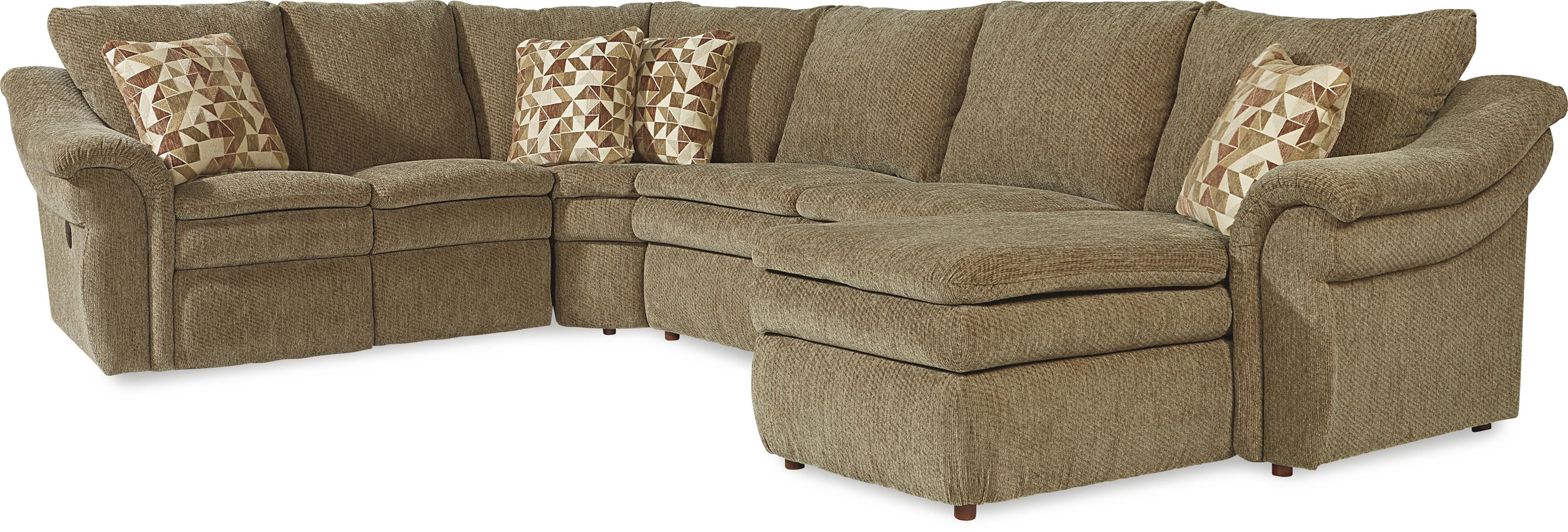4 pc Sectional  with Left Arm Sitting Chaise