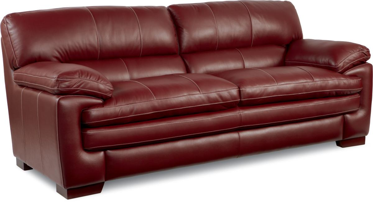 Casual Stationary Sofa with Pillow Top Arms and Seat by La-Z-Boy ...