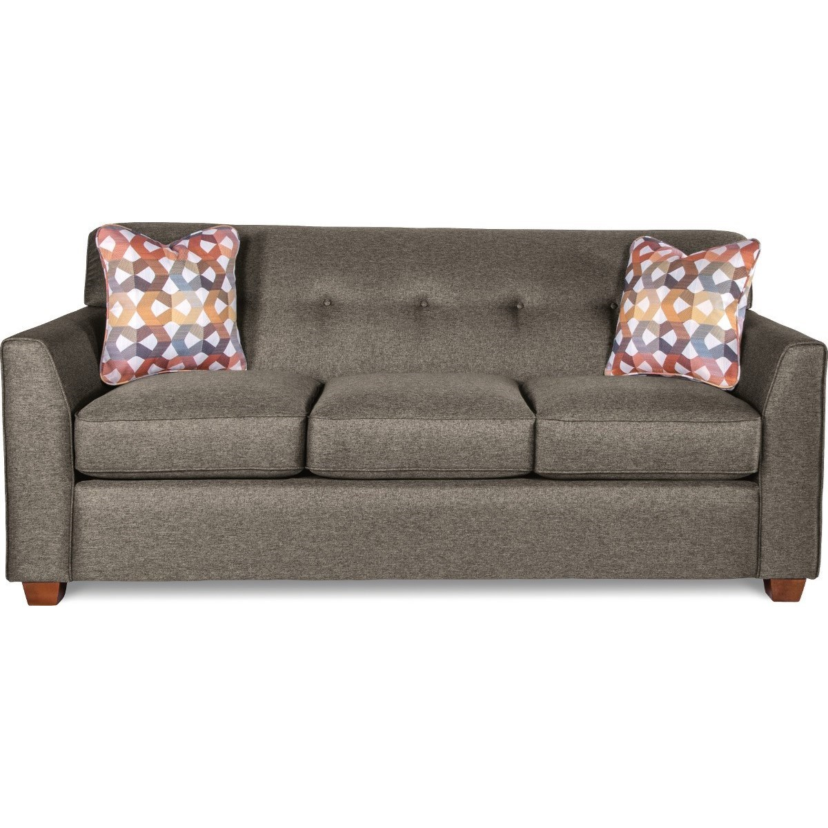 Contemporary Tufted Apartment Sleeper Sofa with Premier ComfortCore Cushions