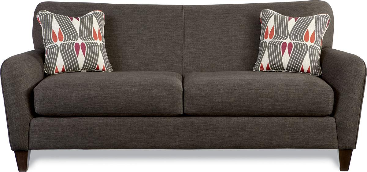 Premier Contemporary Sofa With Tapered Wood Legs