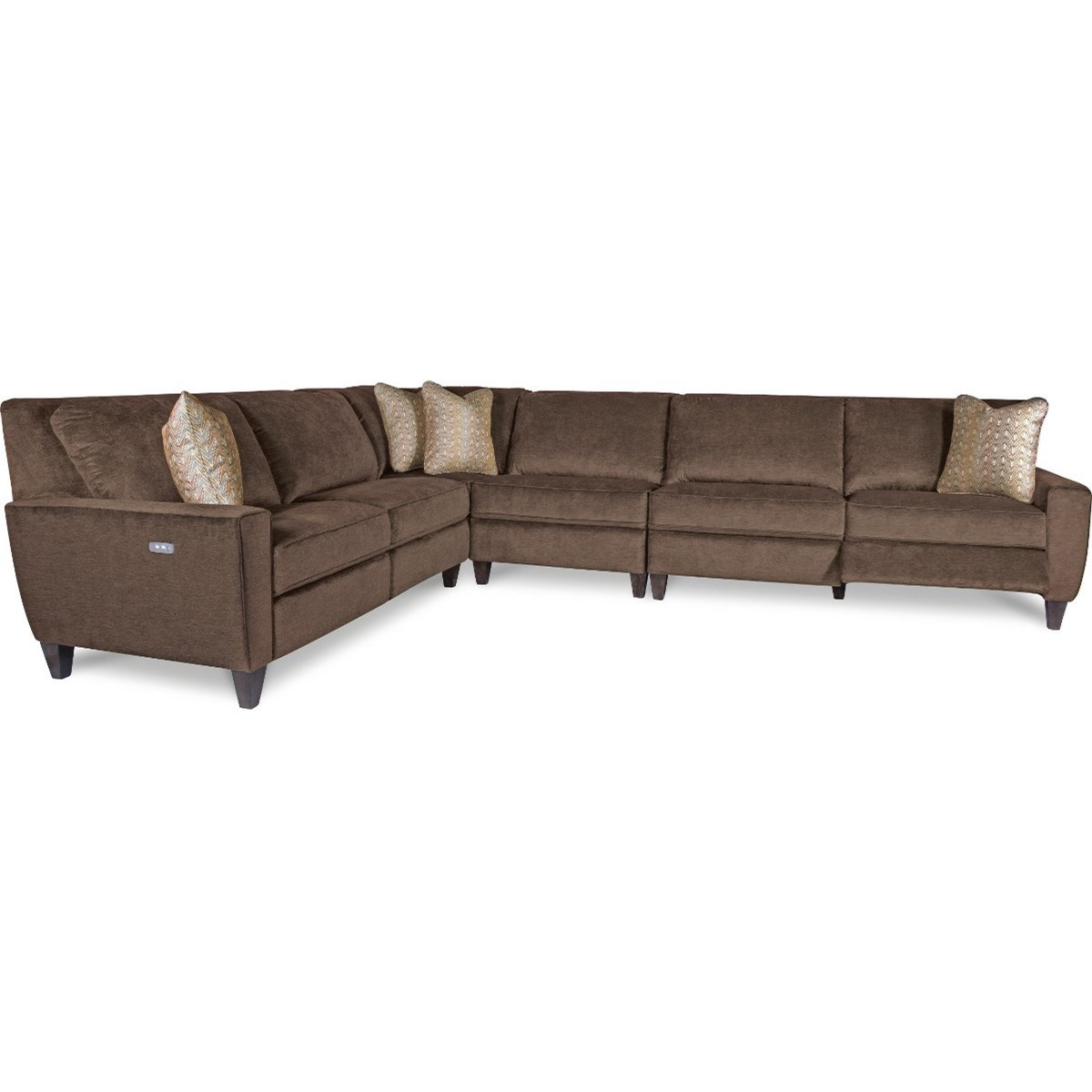 Four Piece Power Reclining Sectional Sofa with Two Reclining Chairs and Two USB Charging Ports