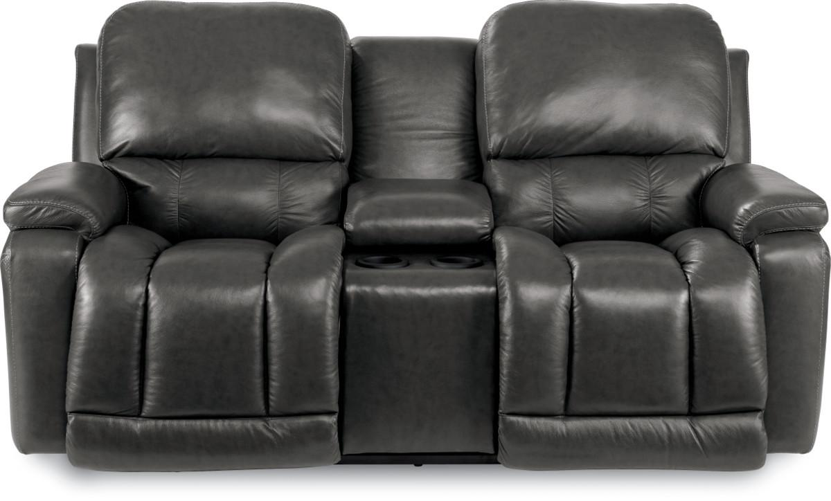 Casual La Z Time Full Reclining Loveseat W Console With