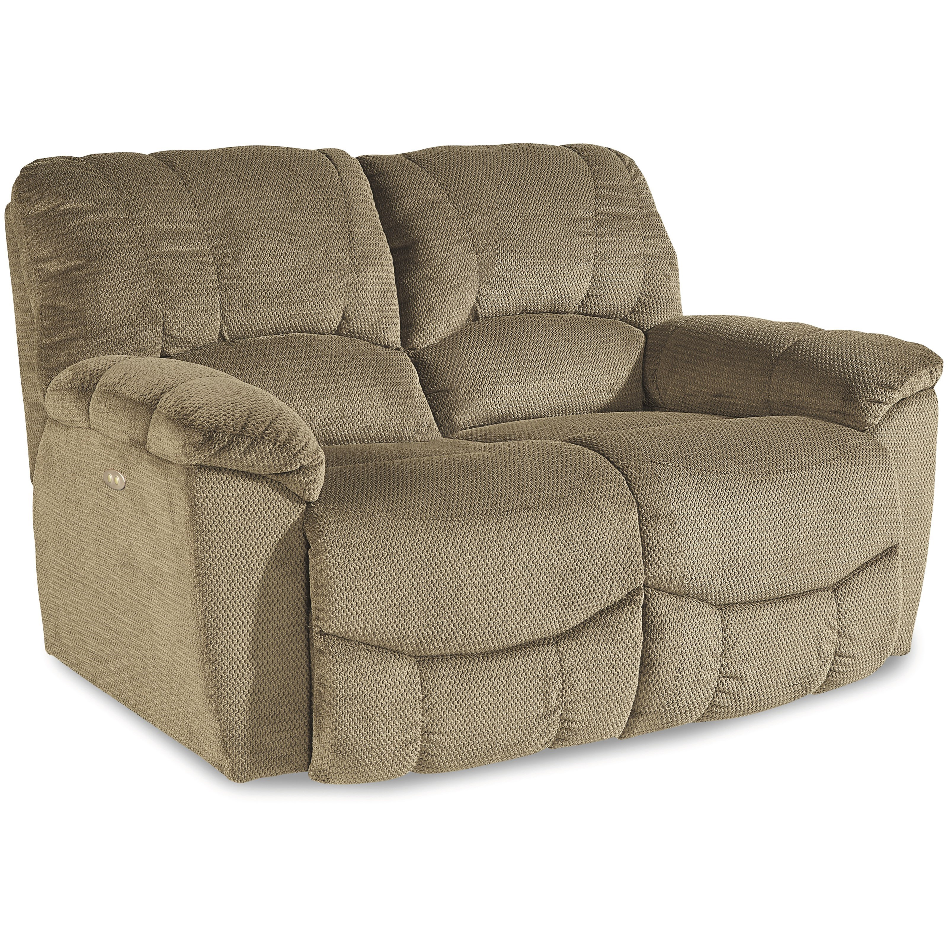 Casual Power La-Z-Time® Full Reclining Loveseat with Channel-Stitched Back