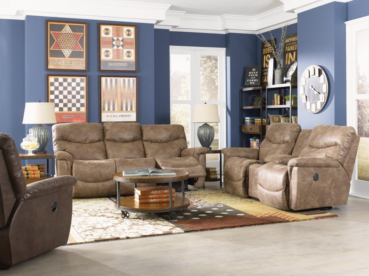 Faux Leather La Z Time 174 Full Reclining Sofa By La Z Boy