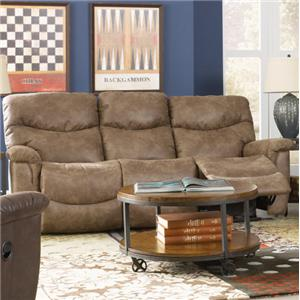 Faux Leather La-Z-Time® Full Reclining Sofa