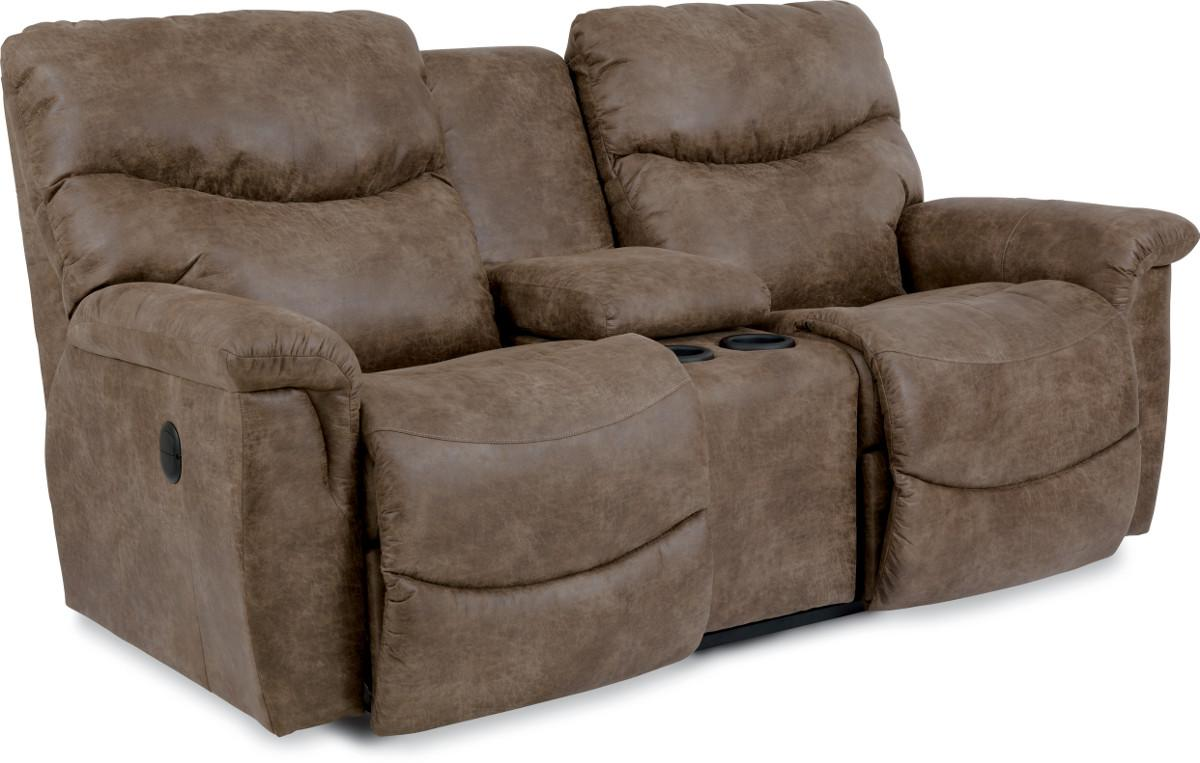 Casual Power La Z Time Full Reclining Loveseat With Middle Console By La Z Boy Wolf And