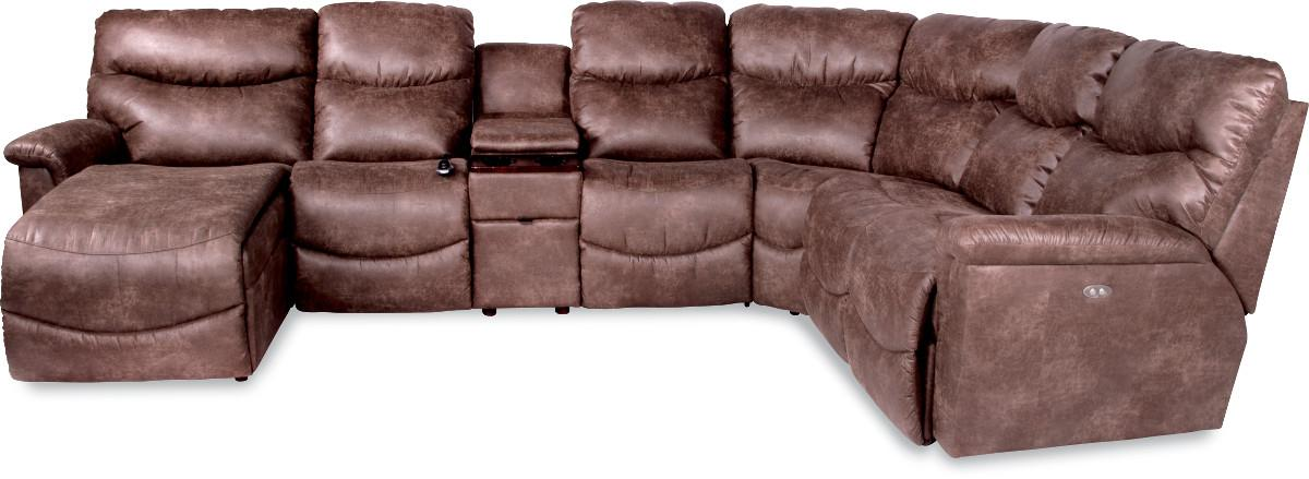 Six Piece Power Reclining Sectional with RAS Chaise