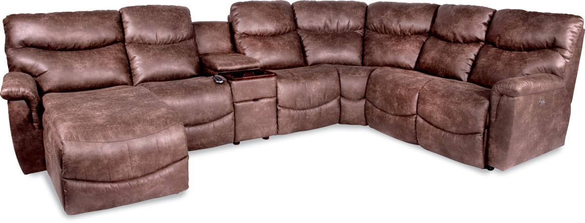 Six Piece Power Reclining Sectional With Ras Chaise By La