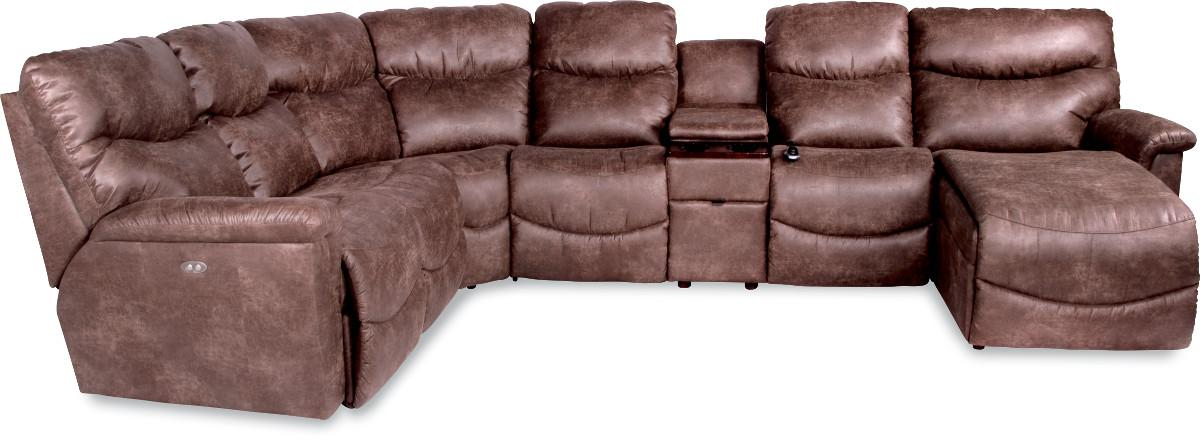 Six Piece Power Reclining Sectional with LAS Chaise