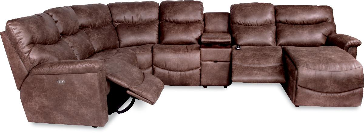 Six Piece Power Reclining Sectional With Las Chaise By La