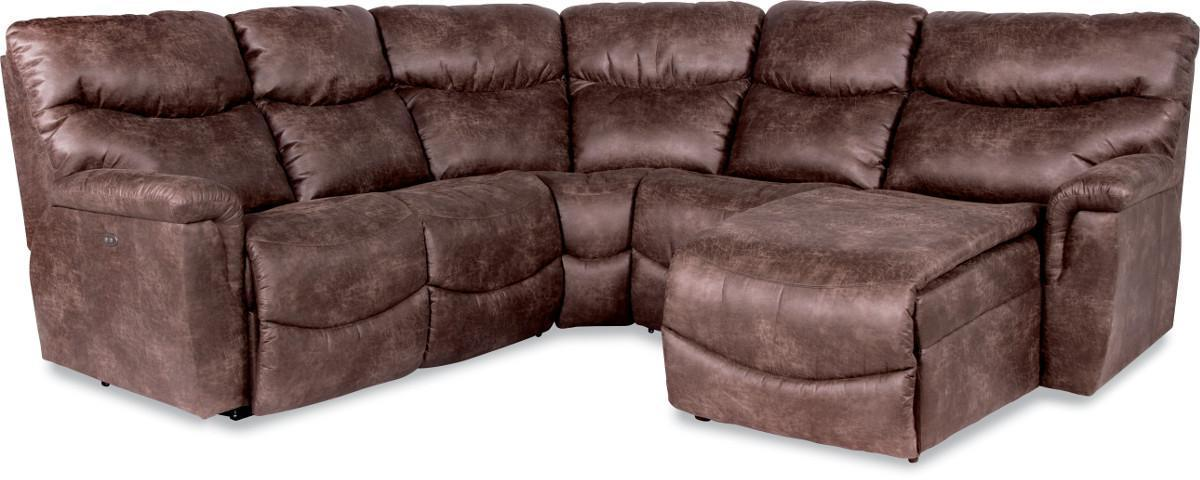 4 Pc Reclining Sectional Sofa  sc 1 st  Wolf Furniture & Four Piece Reclining Sectional Sofa with LAS Reclining Chaise by ... islam-shia.org