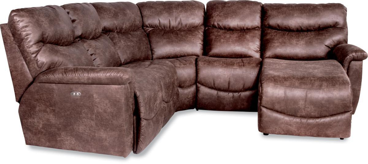 Four piece power reclining sectional sofa with las for 4 piece sectional with chaise