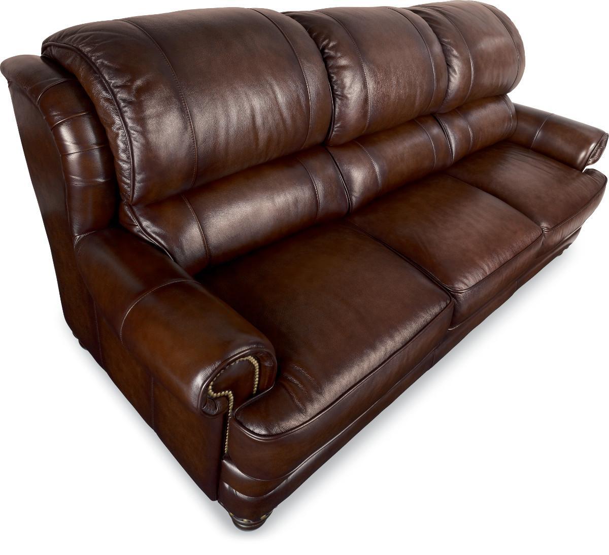 Bernhardt Sofa Leather And Fabric Black Leather Sofa
