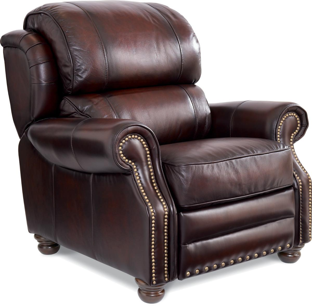 Traditional High Leg Leather Recliner By La Z Boy Wolf And Gardiner Wolf Furniture