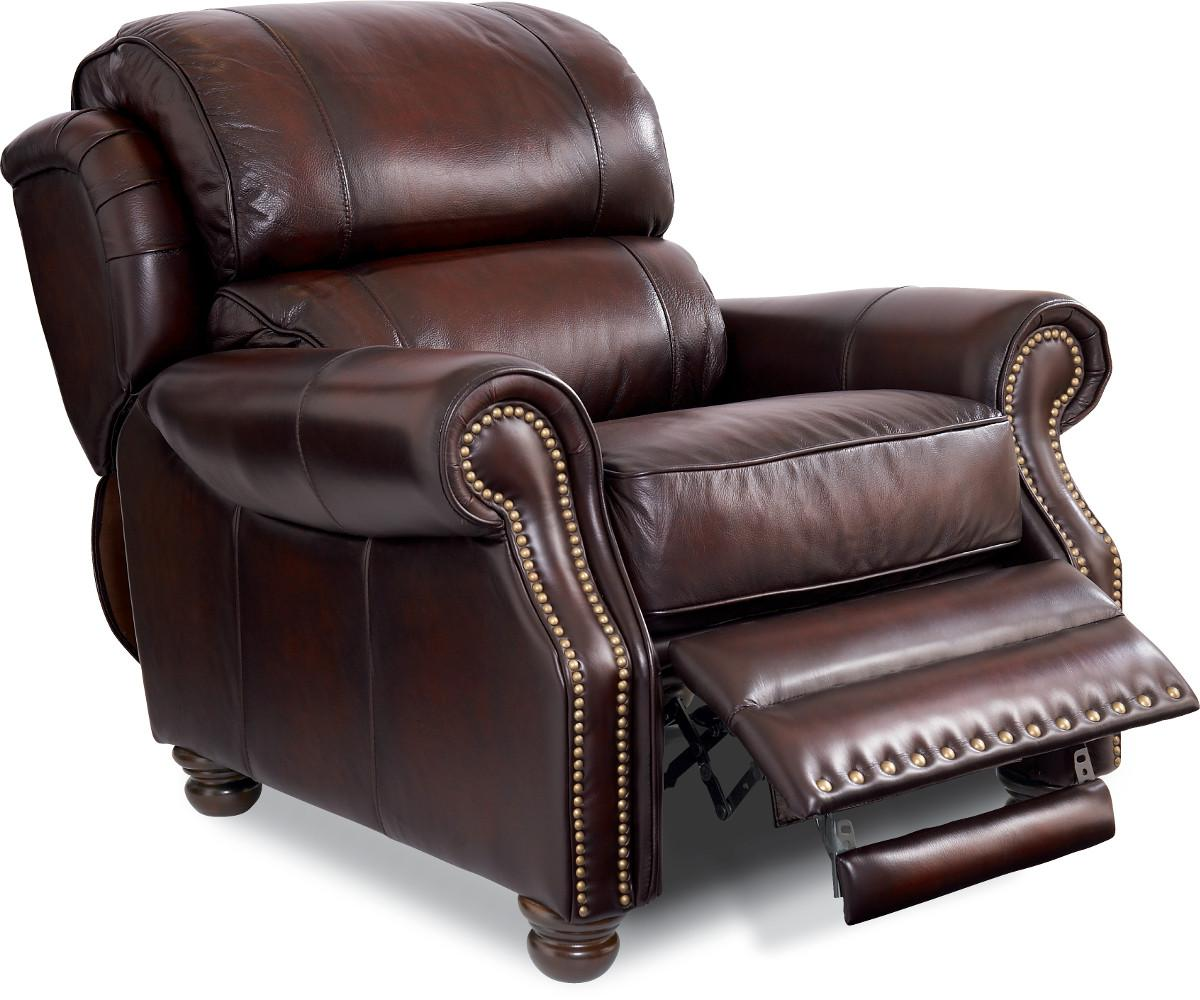 Traditional High Leg Leather Recliner. by La-Z-Boy  sc 1 st  Wolf Furniture & Traditional High Leg Leather Recliner by La-Z-Boy | Wolf and ... islam-shia.org