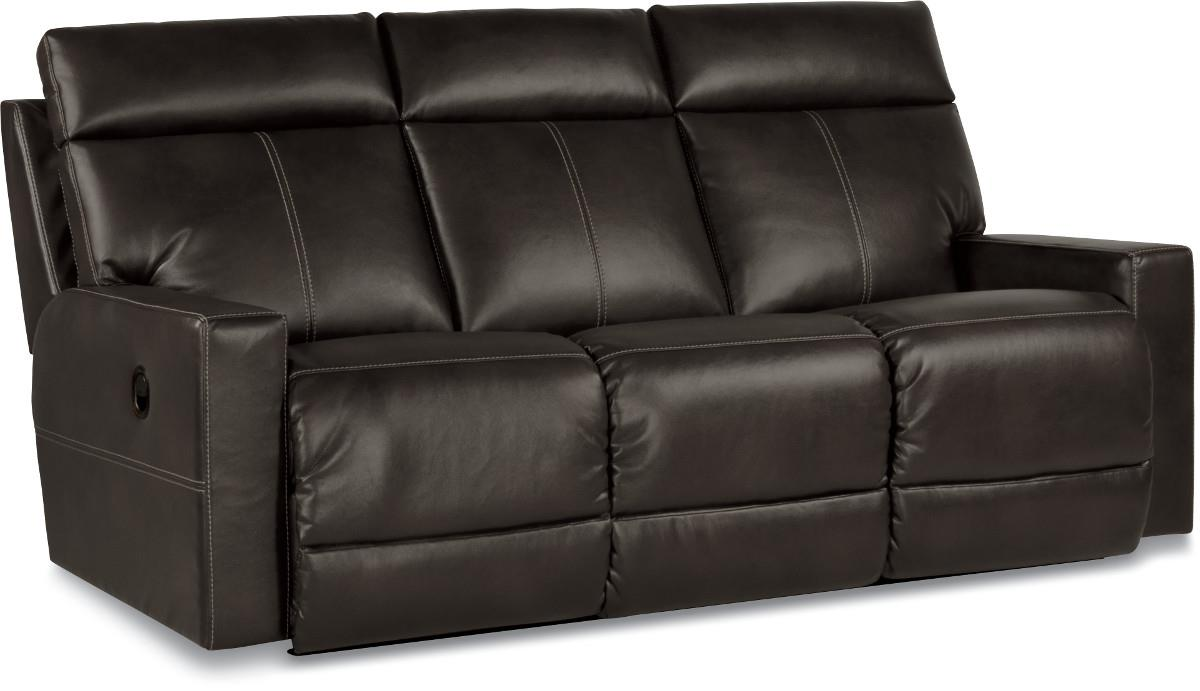 Contemporary Reclining Sofa With Topstitch Detailing