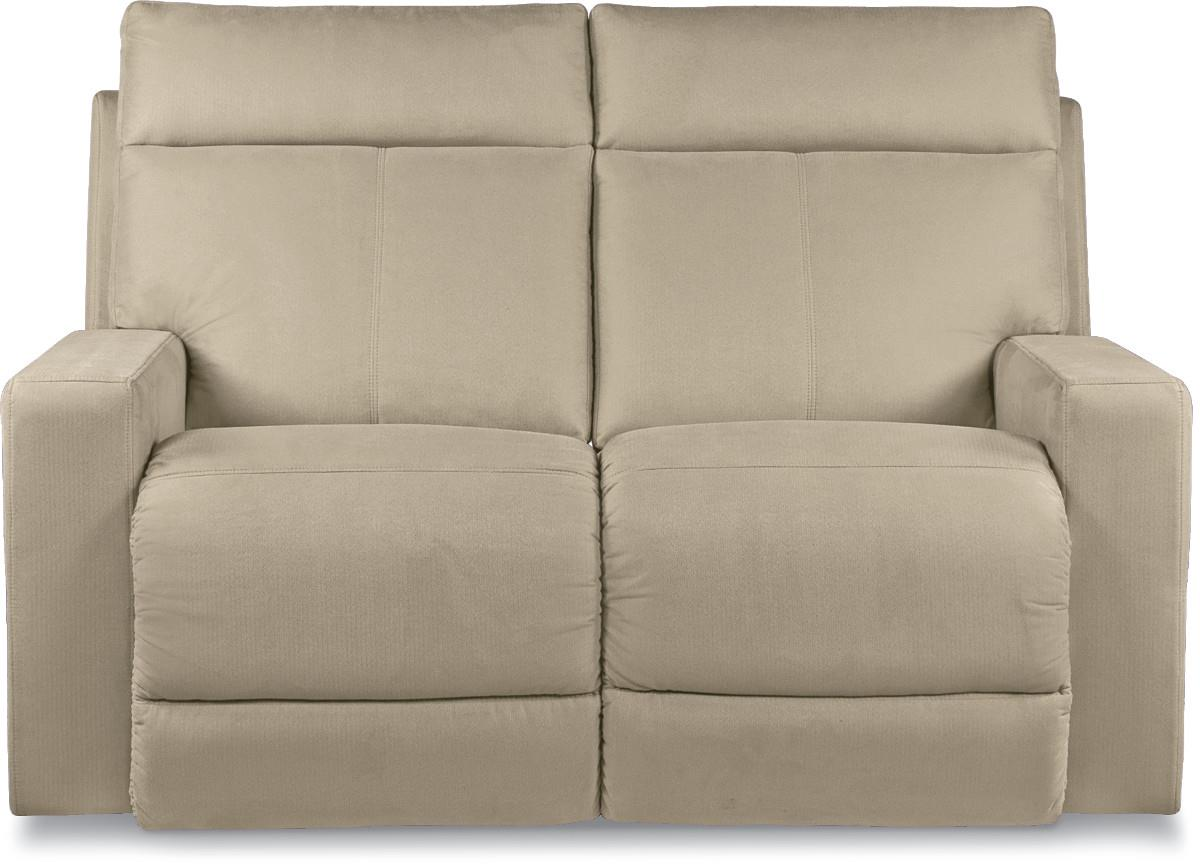 power reclining loveseat with topstitch detailing