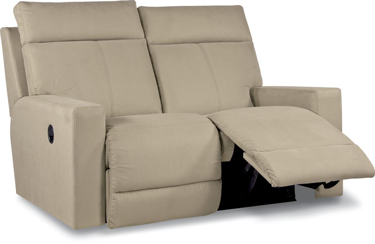 Contemporary Power Reclining Loveseat With Topstitch Detailing By La Z Boy Wolf And Gardiner
