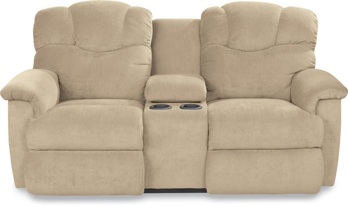 Power La-Z-Time® Full Reclining Loveseat with Middle Console