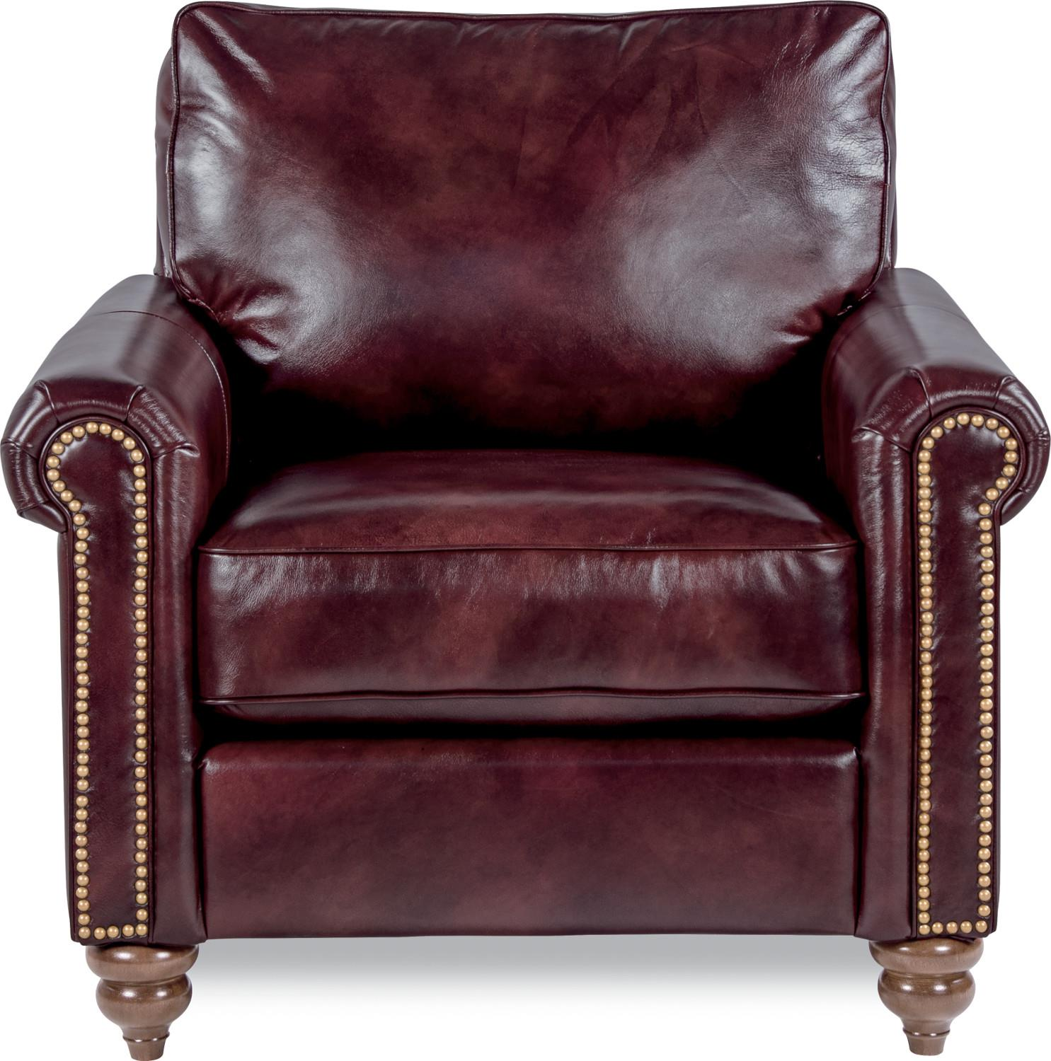 Traditional Rolled Arm Chair with Premier Comfort Core Cushions