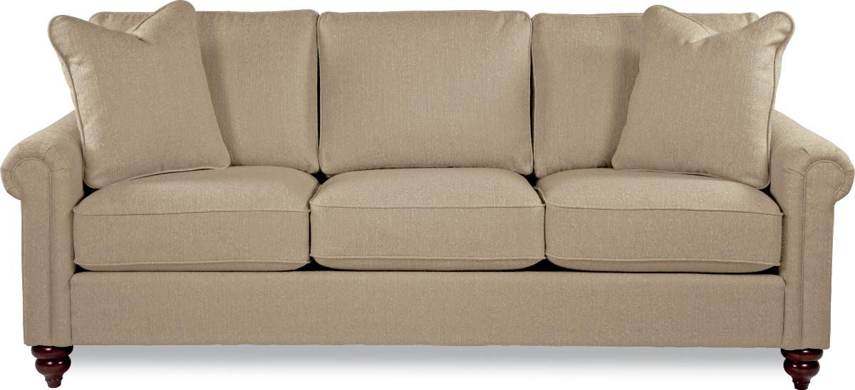 Traditional Rolled Arm Sofa with Premier Comfort Core Cushions - Traditional Rolled Arm Sofa With Premier Comfort Core Cushions By