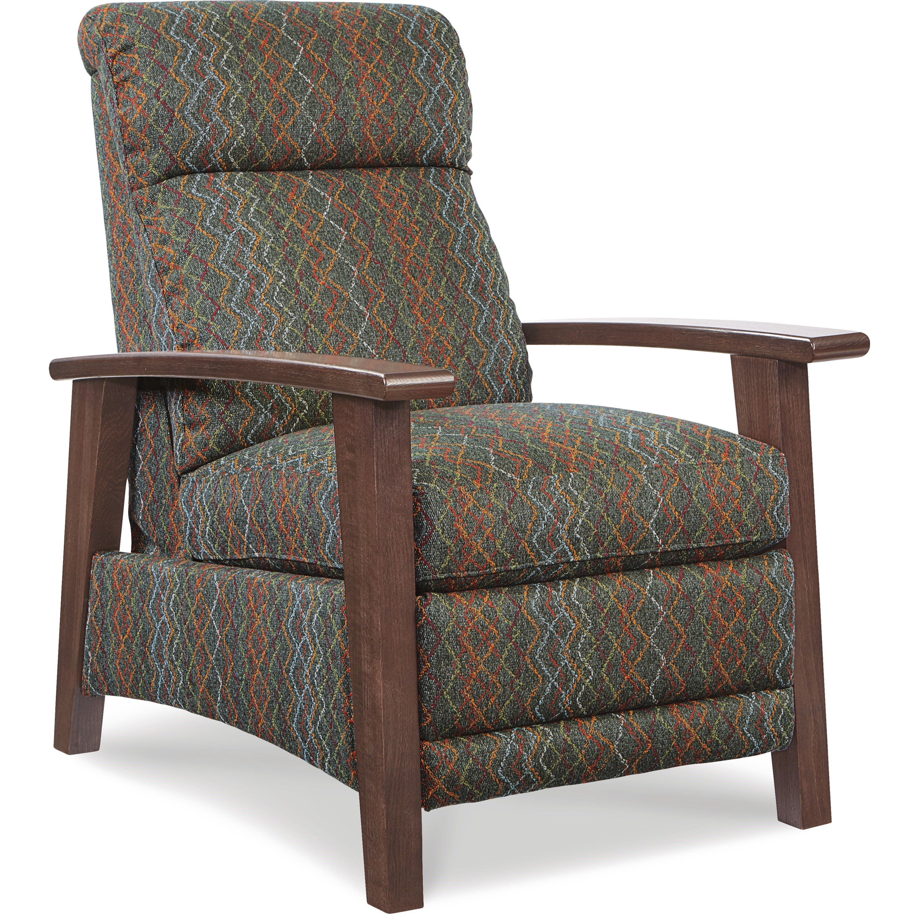 Nouveau Modern Recliner with Wood Arms